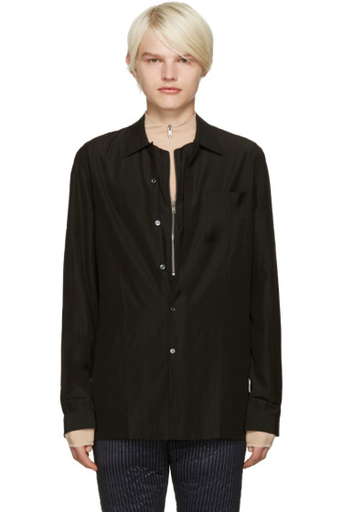 Maison Margiela - Black Layered Shirt