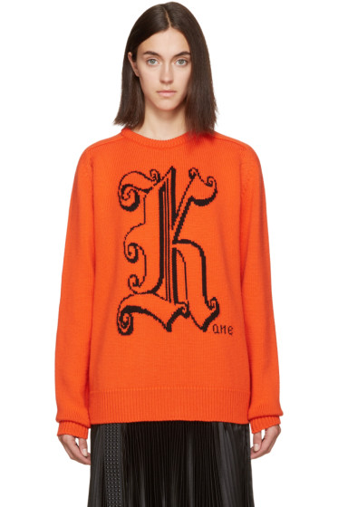 Christopher Kane - Orange Wool 'Kane' Sweater
