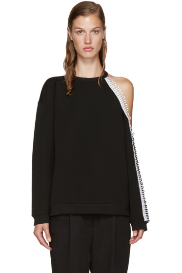 Christopher Kane - Black Cut-Out & Loop Sweatshirt