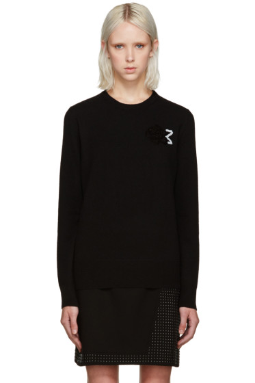 Christopher Kane - Black Sequin Rose Sweater