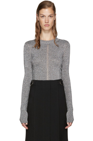 Christopher Kane - Silver Metallic Sweater