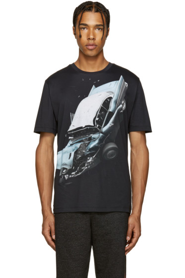 Christopher Kane - Black Car Crash T-Shirt