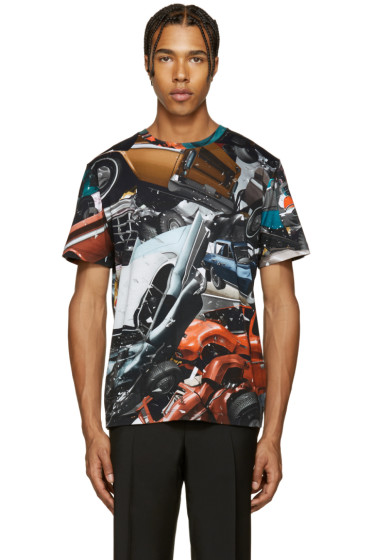 Christopher Kane - Multicolor Car Crash T-Shirt