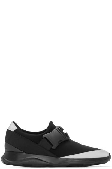 Christopher Kane - Black Neoprene Reflective Sneakers