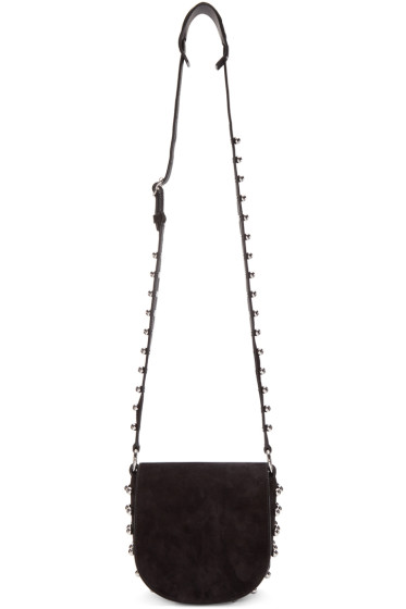 Alexander Wang - Black Suede Ball Stud Mini Lia Satchel