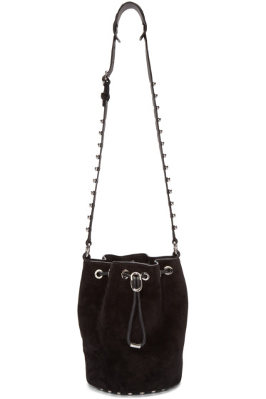 Alexander Wang - Black Suede Alpha Bucket Bag