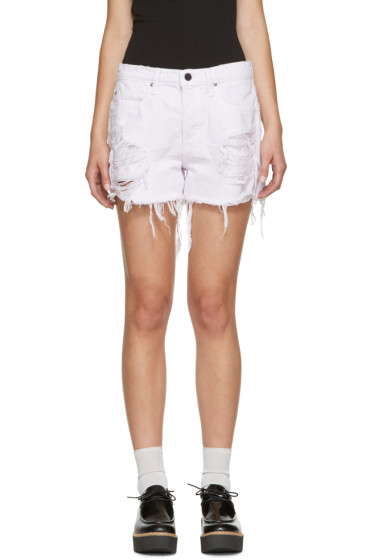 Alexander Wang - Purple Denim Romp Shorts