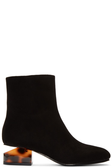 Alexander Wang - Black Suede Kelly Boots