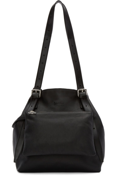 MM6 Maison Margiela - Black Leather Tote