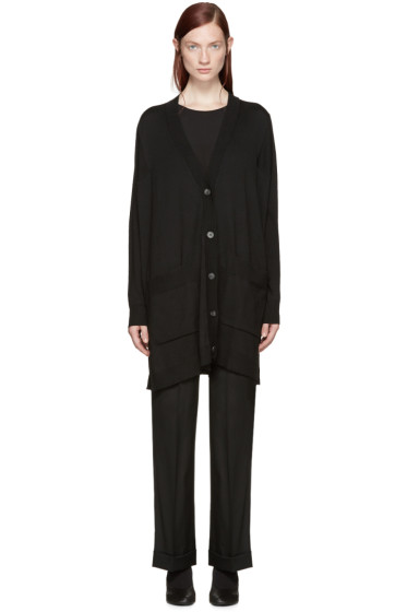 MM6 Maison Margiela - Black Classic Cardigan