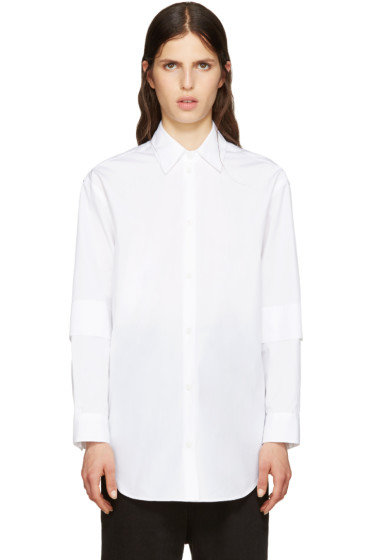 MM6 Maison Margiela - White Poplin Shirt