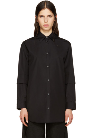MM6 Maison Margiela - Black Poplin Shirt