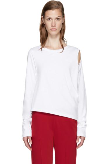 MM6 Maison Margiela - White Cut-Out T-Shirt
