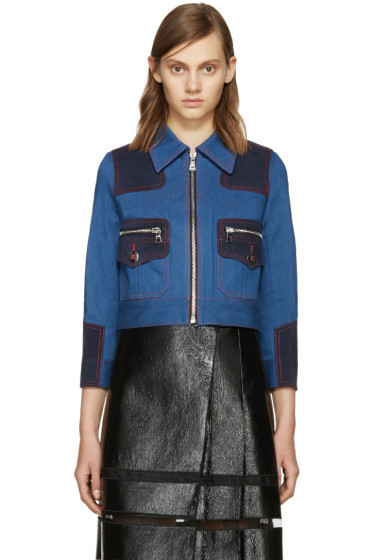 Marc Jacobs - Blue Zip-Front Denim Jacket