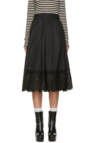 Marc Jacobs - Black Broderie Anglaise Skirt