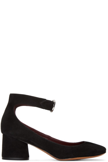 Marc Jacobs - Black Suede Kerry Heels