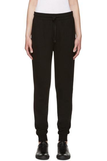 T by Alexander Wang - Black Rib Knit Lounge Pants