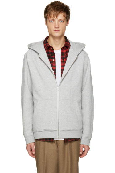 T by Alexander Wang - Grey Vintage Fleece Hoodie