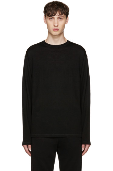 T by Alexander Wang - Black Merino Sweater
