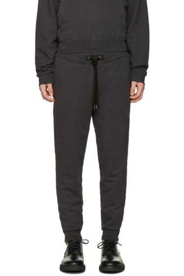 Robert Geller - Grey Zipper Pocket Lounge Pants