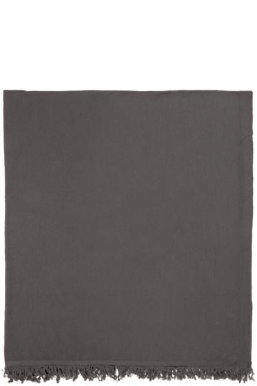 Rick Owens - Taupe Wool Blanket Scarf