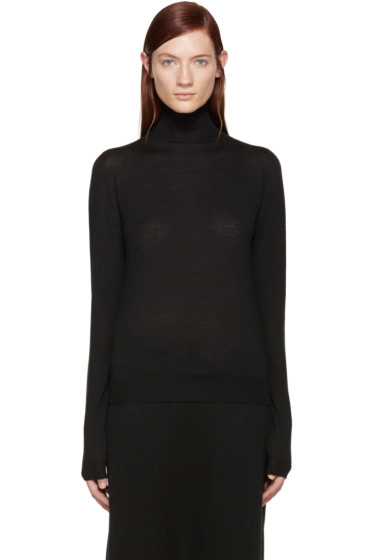 Rick Owens - Black Biker Turtleneck