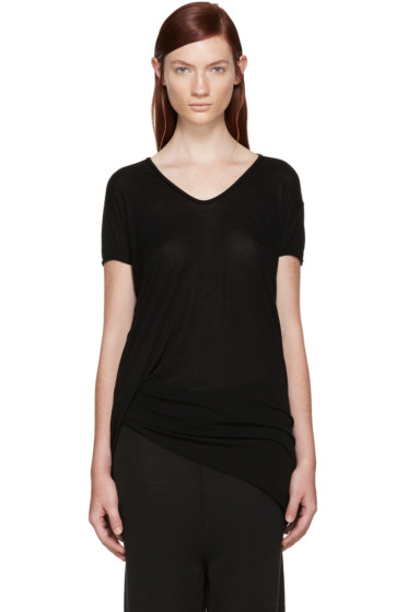 Rick Owens - Black Jersey Long T-Shirt