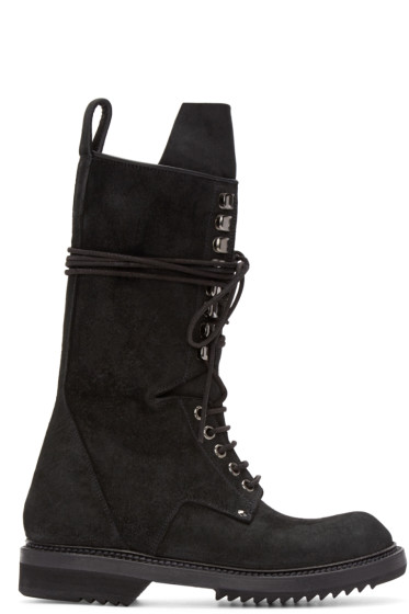 Rick Owens - Black High Chukka Boots