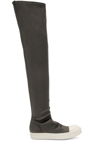 Rick Owens - Grey High Sock Boots