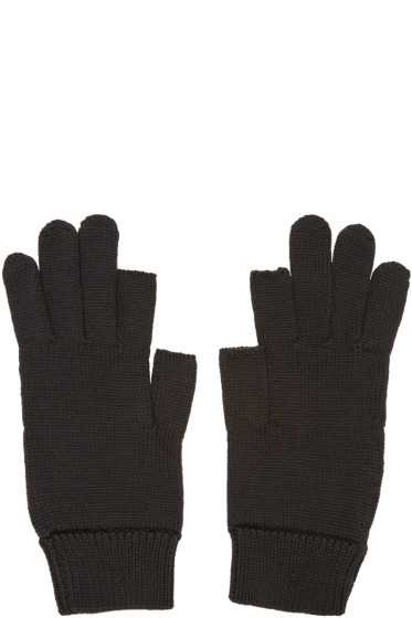 Rick Owens - Black Knit Gloves