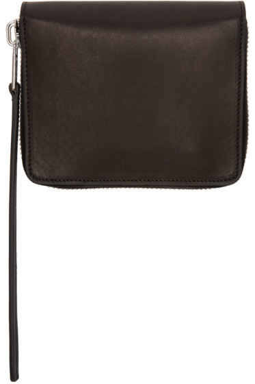 Rick Owens - Black Small Zippered Wallet