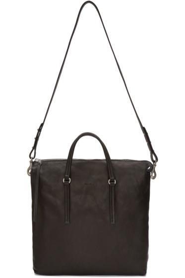 Rick Owens - Black Leather Shoulder Bag