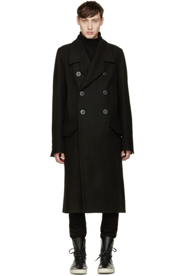 Rick Owens - Black Officers Coat