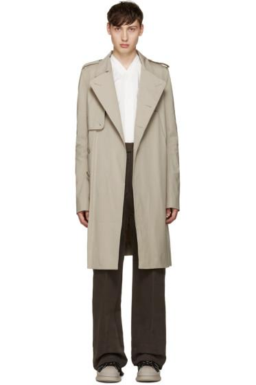 Rick Owens - Beige Trench Coat