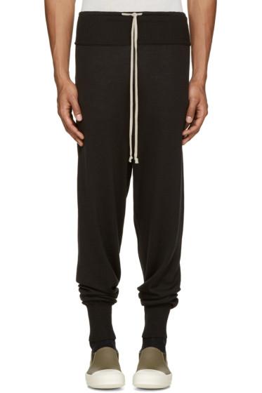 Rick Owens - Black Wool Lounge Pants