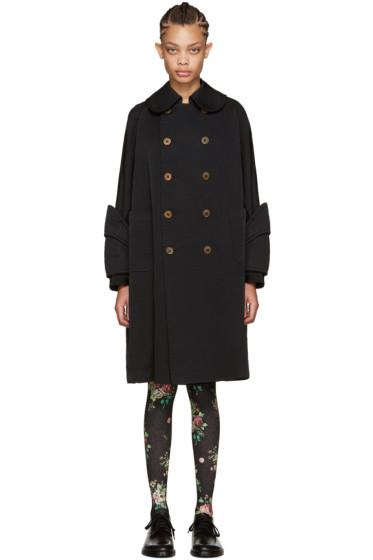 Comme des Garçons - Black Oversized Double-Breasted Coat