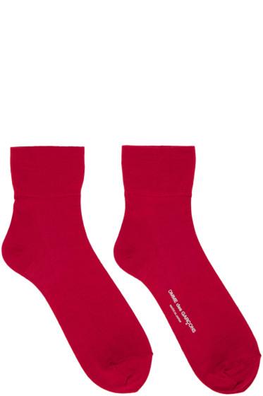 Comme des Garçons - Red Short Socks