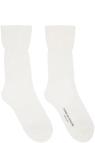 Comme des Garçons - Off-White Long Socks