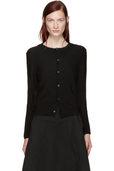 Comme des Garçons - Black Wool Two-Way Cardigan