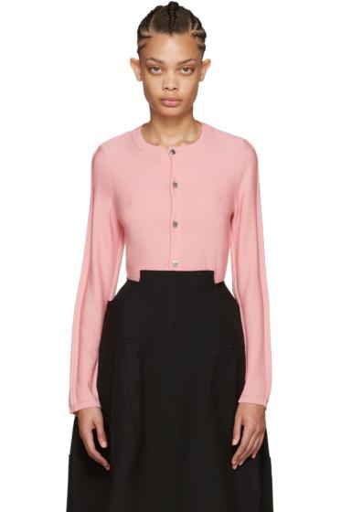 Comme des Garçons - Pink Wool Cardigan