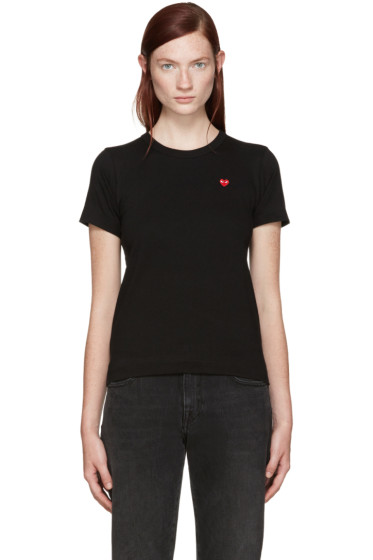 Comme des Garçons Play - Black Small Heart Patch T-Shirt