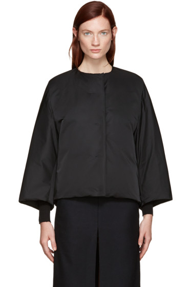 Jil Sander - Reversible Black Collarless Jacket