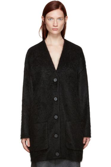 Jil Sander - Black Mohair Oversized Cardigan