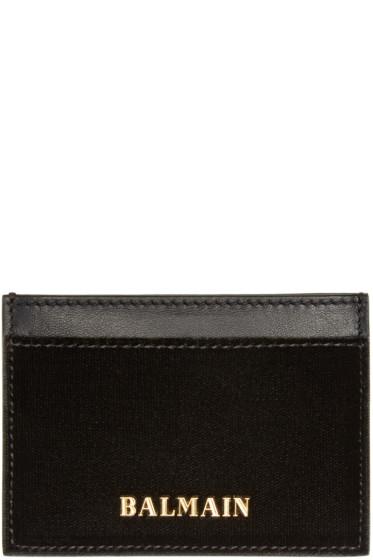 Balmain - Black Velvet Card Holder