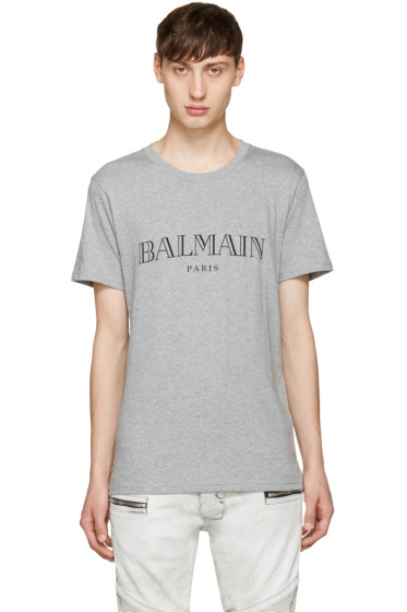 Balmain - Grey Logo T-Shirt