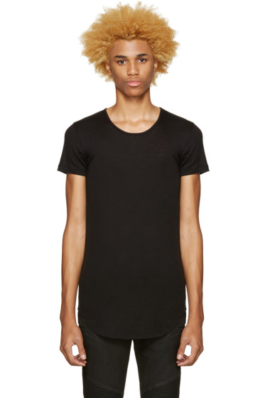 Balmain - Black Ribbed T-Shirt