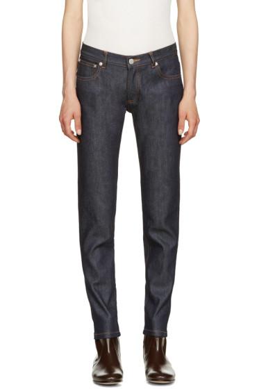 A.P.C. - Indigo Cropped Skinny Jeans