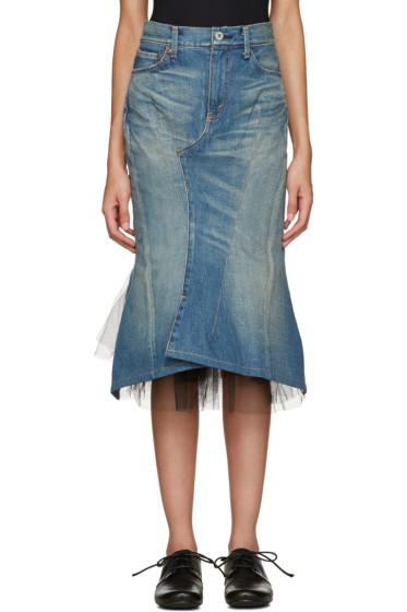 Junya Watanabe - Blue Denim & Tulle Skirt