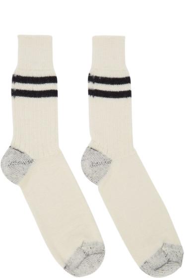 Junya Watanabe - Off-White Wool Socks