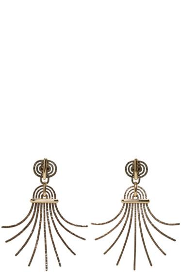 Lanvin - Gold Palm Clip-On Earrings